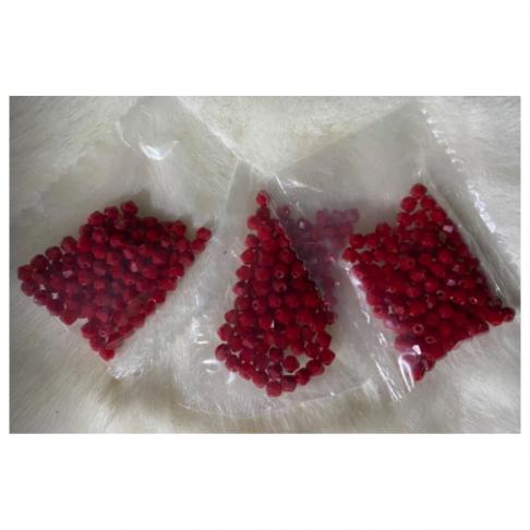 KR-KA401 Kristalo karoliukai, bikone, 4mm, apie 100 vnt., VYŠNINIAI
