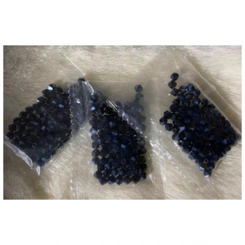 KR-KA402 Kristalo karoliukai, bikone, 4mm, apie 100 vnt., blizgiai- TAMSŪS