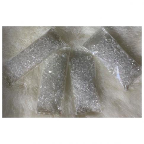 KR-KA405  Kristalo karoliukai, bikone, 4mm, apie 100 vnt.,  SKAIDRŪS