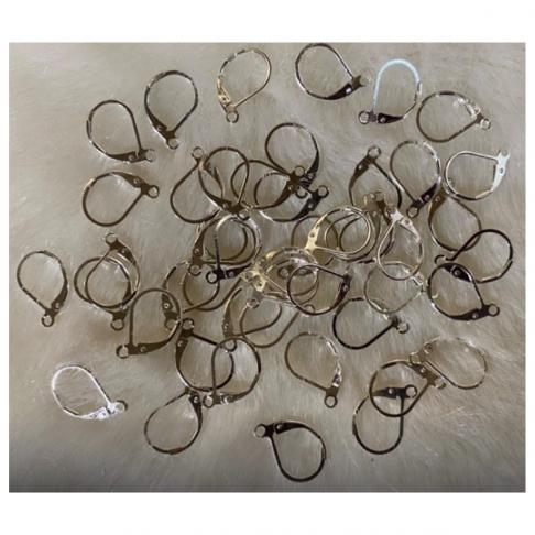 SID-A3039 Kabliukai auskarams, 13x10mm, sidabruoti, už vieną porą.