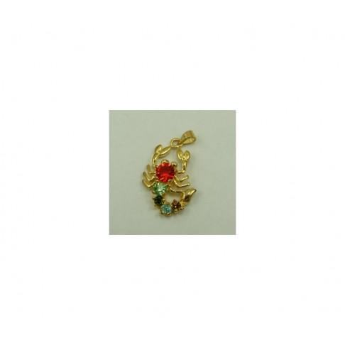 AUK-SK229 Pakabukas skorpionas, su kristalo akutėm