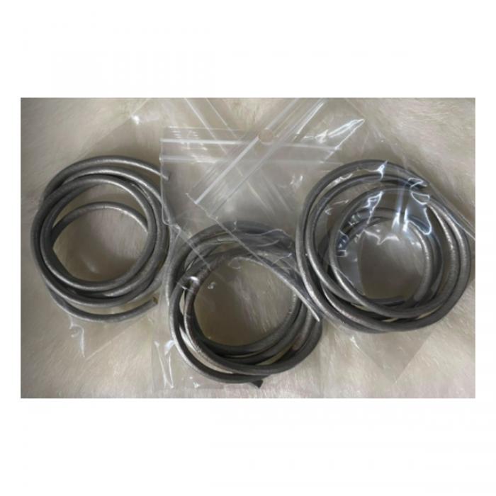 OD-3M102  Natūralios odos virvutė, 3mm, 60cm, SIDABRO 1 sp.