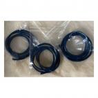 OD-3M104 Natūralios odos virvutė, 3mm, 60cm, melsvai-žalsva sp.