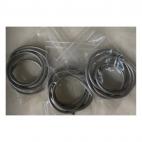 OD-3M105  Natūralios odos virvutė, 3mm, 60cm, Sidabro 2sp.