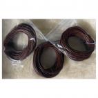 VE-15014  Nat., odos virvutė, 1.5mm, 3metrai,  RUDA
