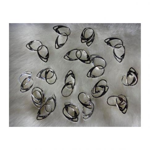 SID-9997  Sidabruoti kabliukai auskarams, anglišku užsegimu, už porą, 19x12mm.