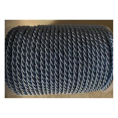 V-S4175  Sukta satino virvutė, 4mm, ŽYDRA, kaina 1 beginio metro.