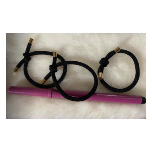 GP-15501   Gumytės plaukams,  50x0.5mm, 3 vnt., JUODOS