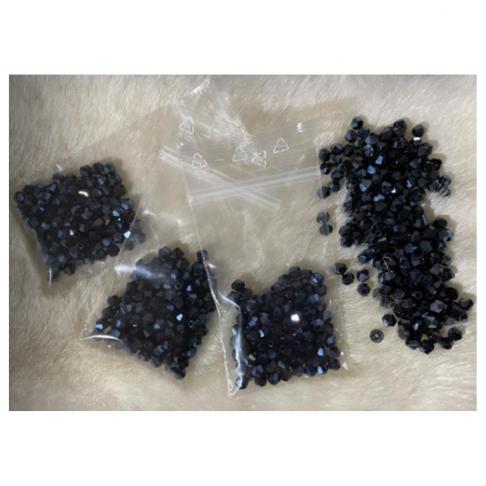 KR-3491 Kristalo karoliukai, 4mm, bikone, 100vnt., TAMSŪS