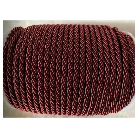 V-S4181   Sukta satino virvutė, 4mm, RUDAI- BORDO sp., kaina 1 beginio metro.