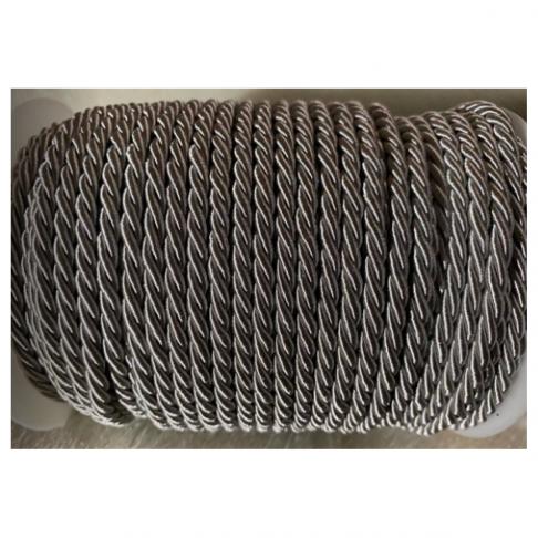 V-S4179  Sukta satino virvutė, 4mm, PILKA, kaina 1 beginio metro.