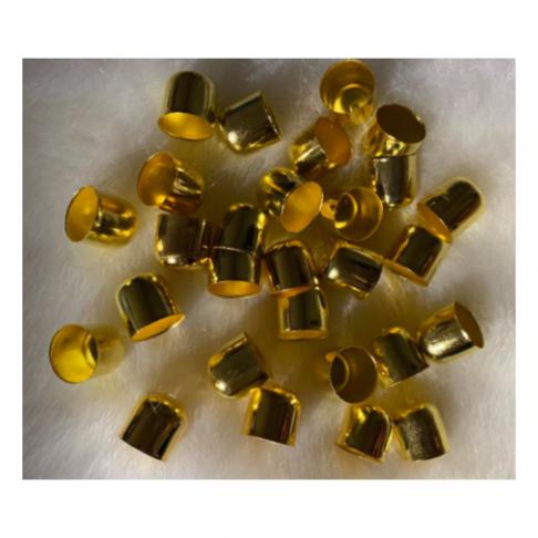 AUK-10964  Kepurėlė-užbaigimo detalė, 10mm, aukso sp., 1vnt.