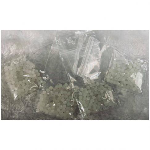 KR-K3031 Kristalo karoliukai, 3mm, apie 130vnt., BALTI