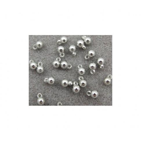 7-PA8560 Burbuliukas-pakabukas, metalizuotas, 9x6mm
