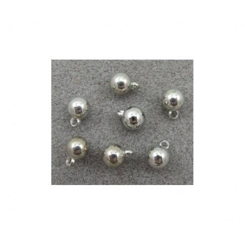 7-PA8562 Burbuliukas-pakabukas, metalizuotas,13x10mm