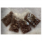 PER-R6016  Perliukai akriliniaim ryžiukai, 8x4mm, 5 gramai, RUDI