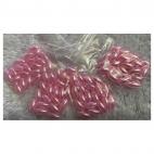 PER-R6012  Akriliniai perliukai, ryziukai, 6x13mm, 20 vnt., ROŽINIAI