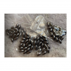 PER-R6011  Akriliniai perliukai, ryziukai, 6x12mm, 20 vnt., PILKI