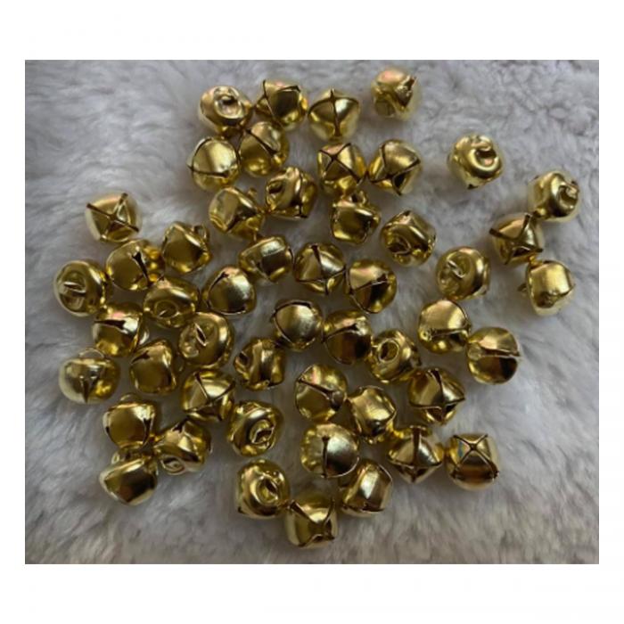 "PK-SB011 Pakabutis ""Skambaliukas"", 10mm, 1vnt., aukso KC sp.,  spalvos."