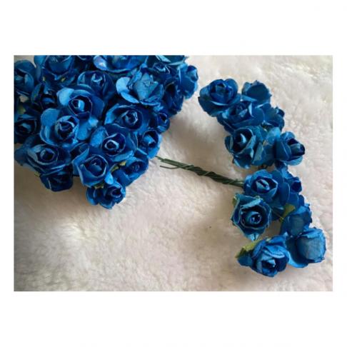 MR-R5S Mulberry popierinės gėlytės, 1-1.5 cm, 12 vnt.,  Šv., PERSIKINĖ