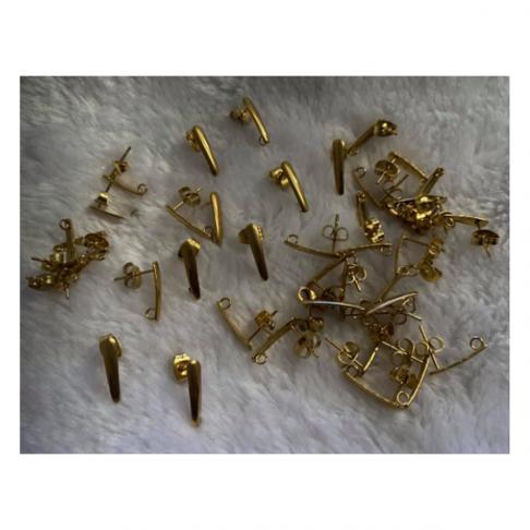 AUK-NP30330  Nerūdyjančio plieno , auskarams, 13x3mm, kaina už porą.