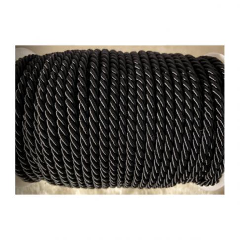 V-S4187  Sukta satino virvutė, 3mm, JUODA, kaina 1 beginio metro.