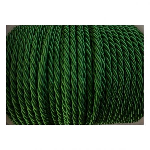V-S4183  Sukta satino virvutė, 3mm, ŽALIA, kaina 1 beginio metro.