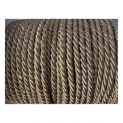 V-S4185  Sukta satino virvutė, 3mm, KREMINĖ, kaina 1 beginio metro.