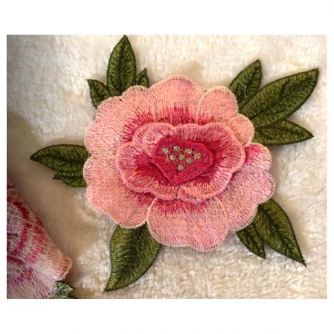 """APA-A00301  Aplikacija """"Rožė"""", rožinė, 18x10cm,  1vnt."""