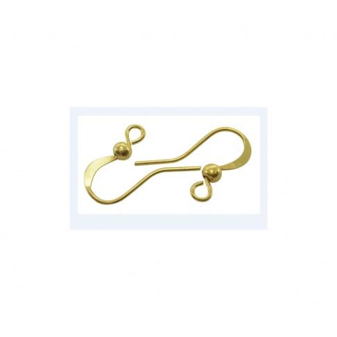 AUK-79481 Kabliukai auskarams, 14x12mm, aukso sp. kaina už 2