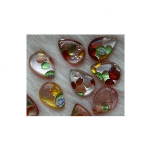 KABOS-37973 Stiklinis kabošonas 18x13, lašelis, margas