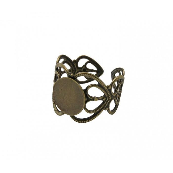 ZAL-Z694 Žiedas su 8mm plokštele, lankstosi pagal dydį