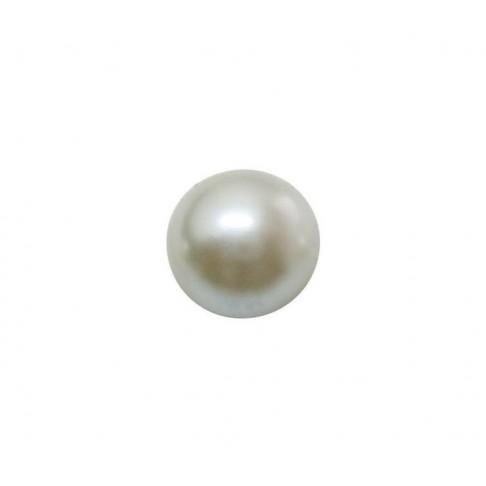 KABAS-19001 Kabošonas akrilinis, perlo imitacija, 16mmx6mm