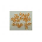 AKR-GEL01 karoliukas-gelytė, 9x5mm,skaidri oranžinė