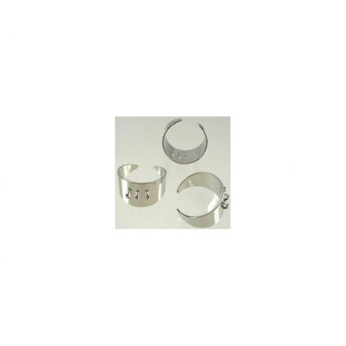 7-706510 Žiedo ruošinys, 14mm plačiausioj vietoj, 3 kilpučių, dydis apie 18mm