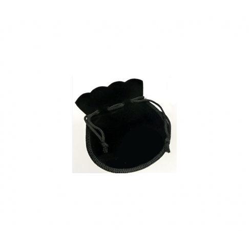 MAIS-8011D 105x90mm Aksominis maišelis, pakavimui, juodas