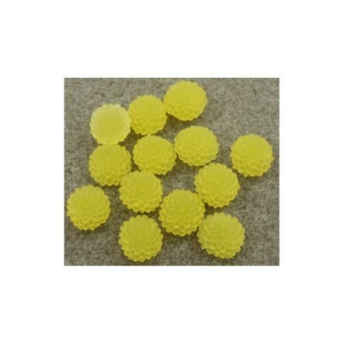 GEL-E429 Akrilinė gėlytė-kabošonas, 9.5mm, geltona