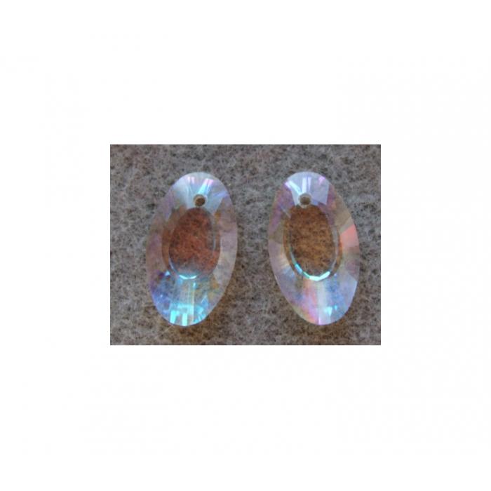 KR-10230 kristalo pakabukas, ovalo formos 22x15mm