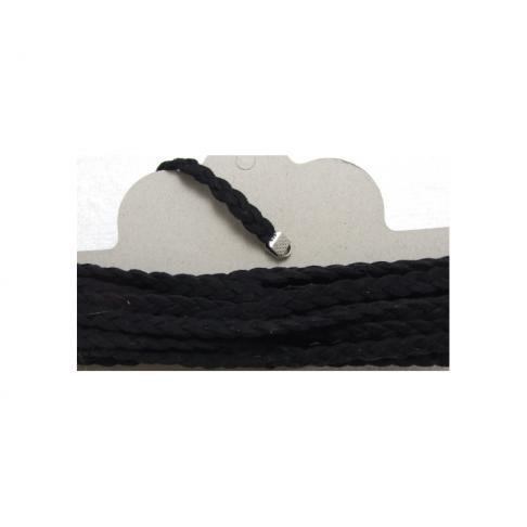JUS-6188 Juostelė pinta, 5mm. juodos sp., kaina už 10cm