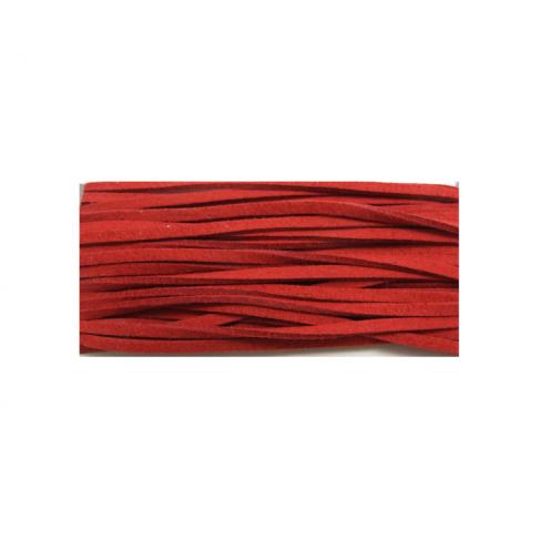 JUOSTELĖ-2 Žomša dirbt, 3mm, raudona, kaina už 25cm