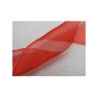 KASP-50501 organza, raudonas, 50mm, kaina už 50cm