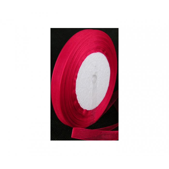 JUOST-1301 Organzos juostelė, raudona, 10mm, kaina už 50cm