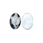 KAMEJA-1MM grūdinto stiklo kamėja, juodai balta, 30x20mm