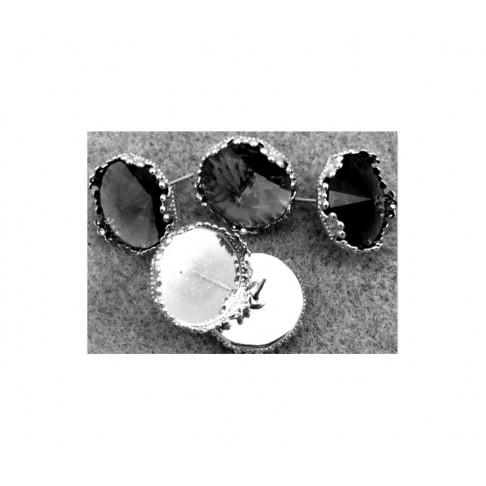 SID-151615 Ažūrinės vinutės, platinos sp., kabašonui 15mm, kaina už 2