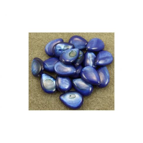 KRIAUK-LE01 Kriauklės lašelis, 18x13mm, mėlynos sp.