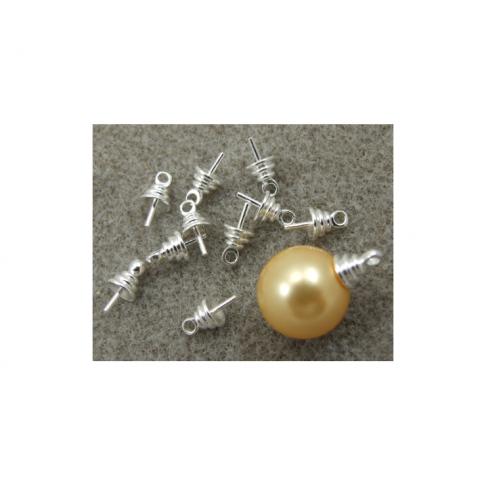 VIN-19110 Laikiklis pusiau gręžtiems kabošonams, sidabro sp., 9.5x5x0.9 mm