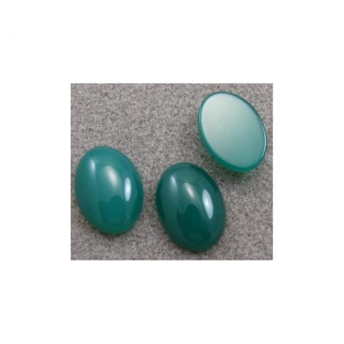 KABAS-182521 Kabošonas žalio agato, 18x25mm