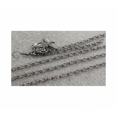 JUOD-GR1516 Grandinėlė juoda, 6×3,5mm, kaina už 1m