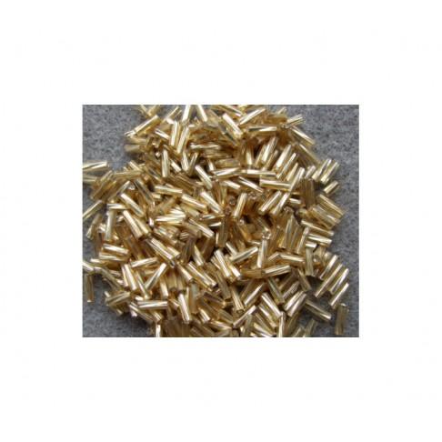 CEK-BISAUK1 Biseris aukso sp., 6x1.8mm, vamzdeliai, kaina už 10 gr.