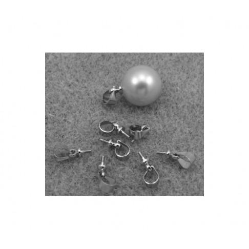 SID-11198 Laikiklis-vinutė pakabukams, pusiau gręžtiems karoliukams, perliukams, 11mm, tamsesnio sid., sp.